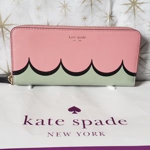 Nwt Kate Spade Slim Continental Wallet